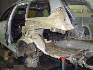 Примеры работ. Стапельные работы Chevrolet Lacetti.