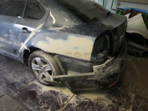 Примеры работ. Кузовной ремонт Skoda Octavia.