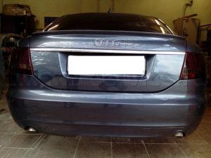 Ремонт и покраска крышки багажника Audi s6.